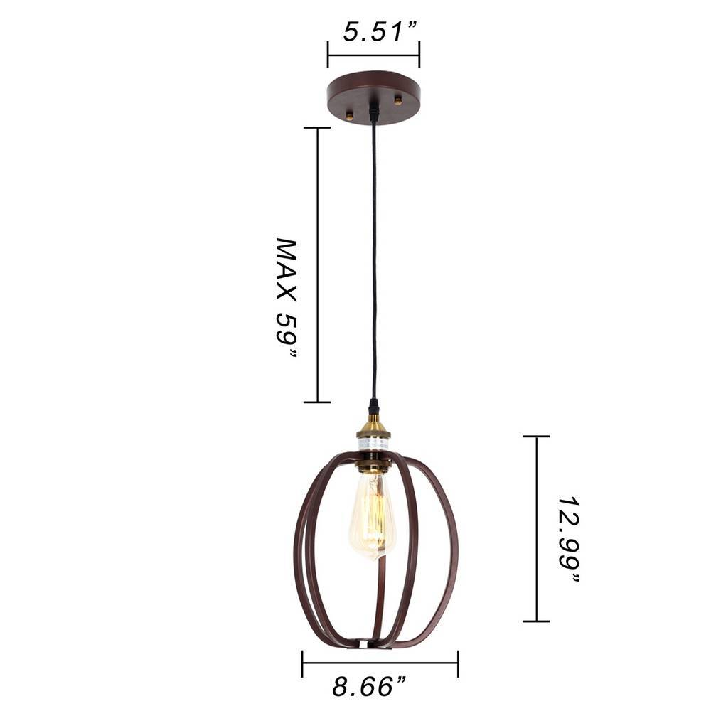 Industrial Oil Rubbed Bronze Oval Cage Mini Pendant Lighting