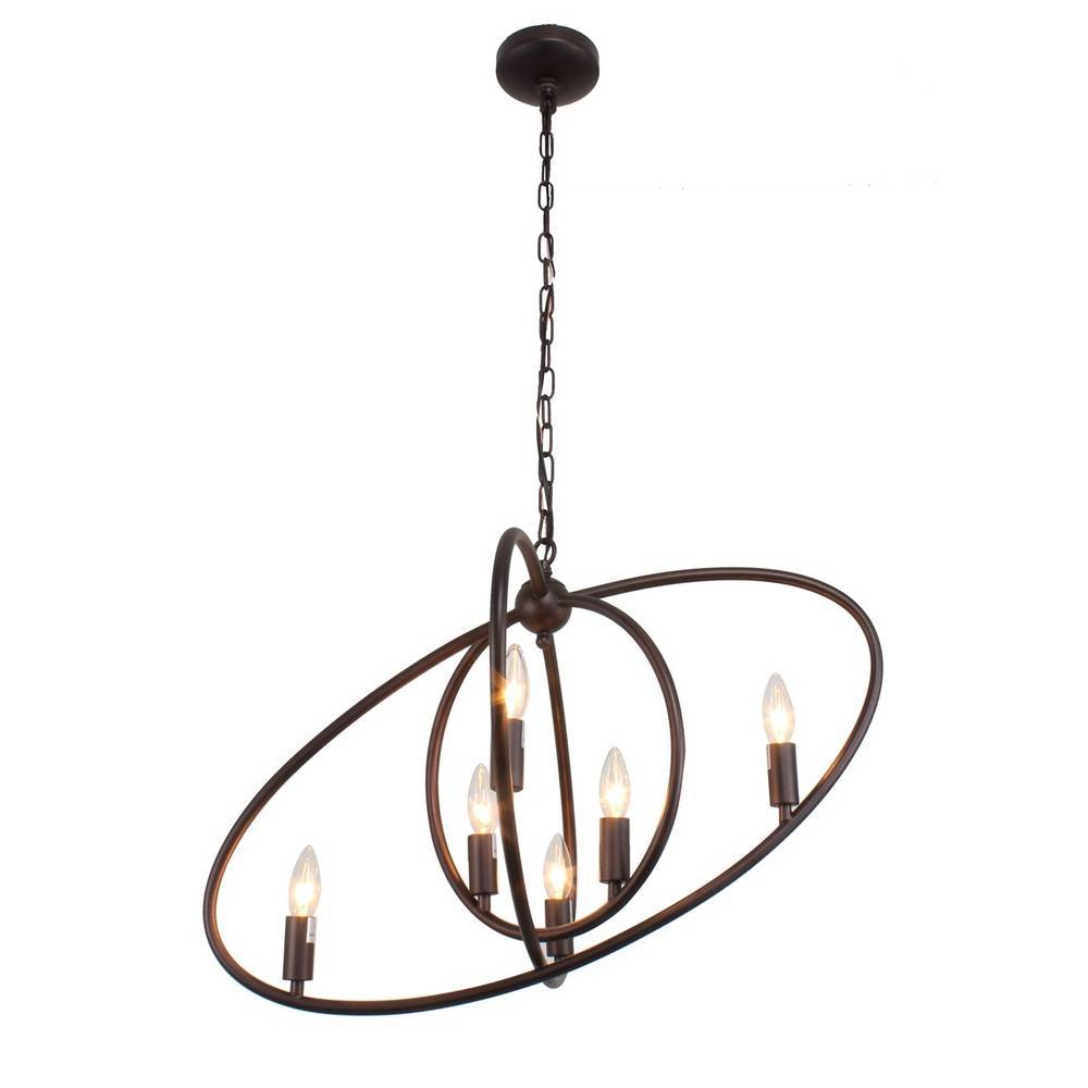 Large Industrial Oil Rubbed Bronze Tilted Oval Globe Pendant Light