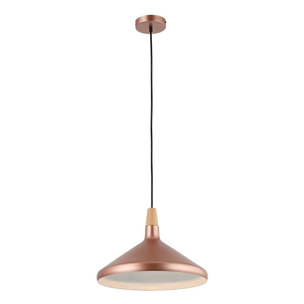 Large Modern Matte Rose Gold Cone Pendant Lighting