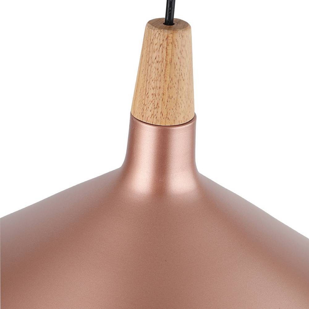 Large Contemporary Matte Rose Gold Cone Pendant Light