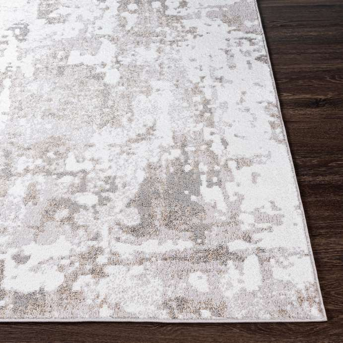 medium pile beige and white area rug made in turkey