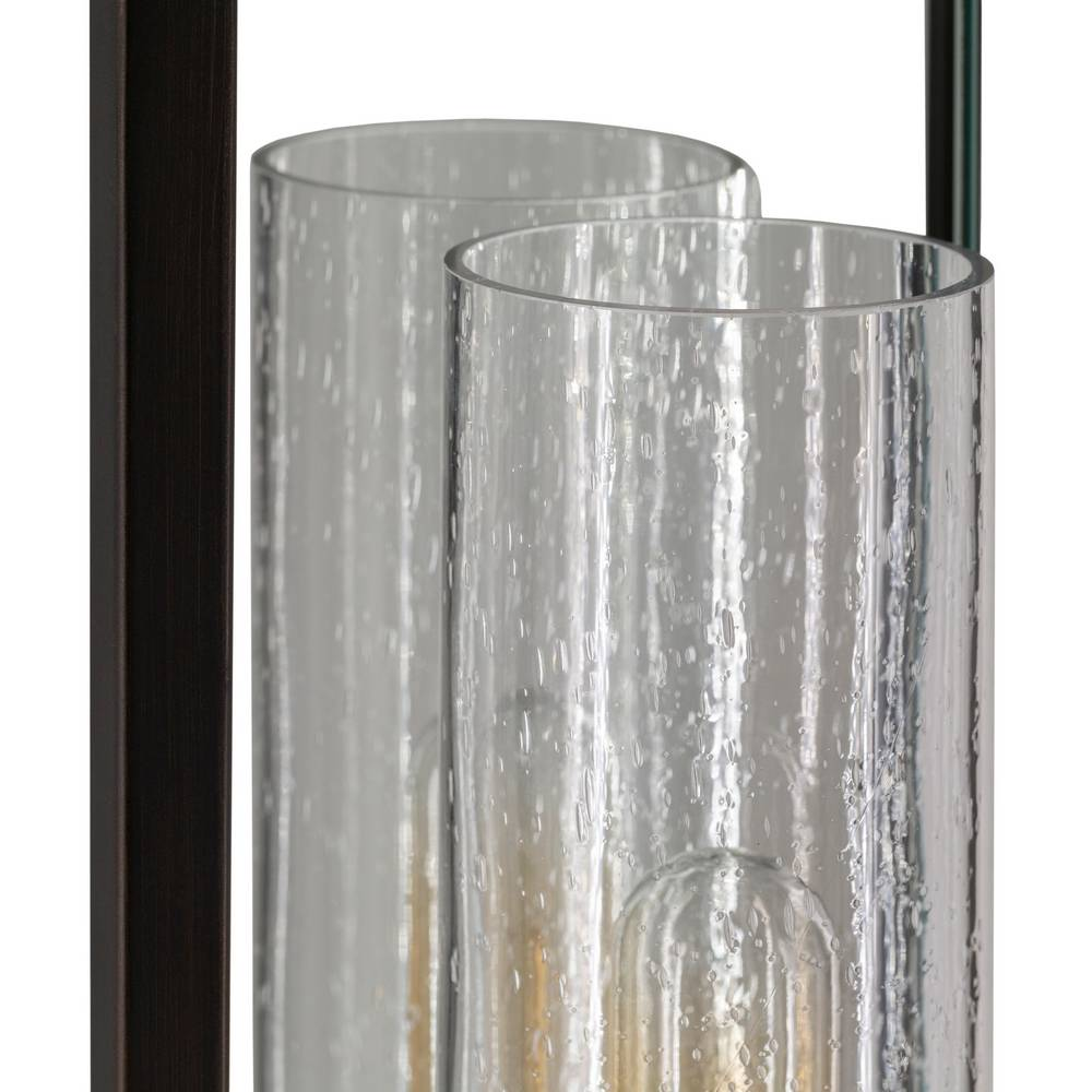 seeded glass wall light