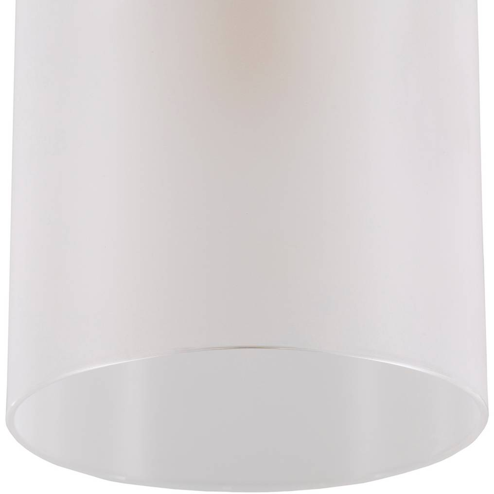 white frosted glass drum shade sconce