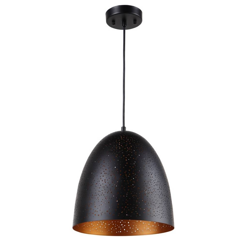 Modern Black & Gold Bell Pendant Lighting
