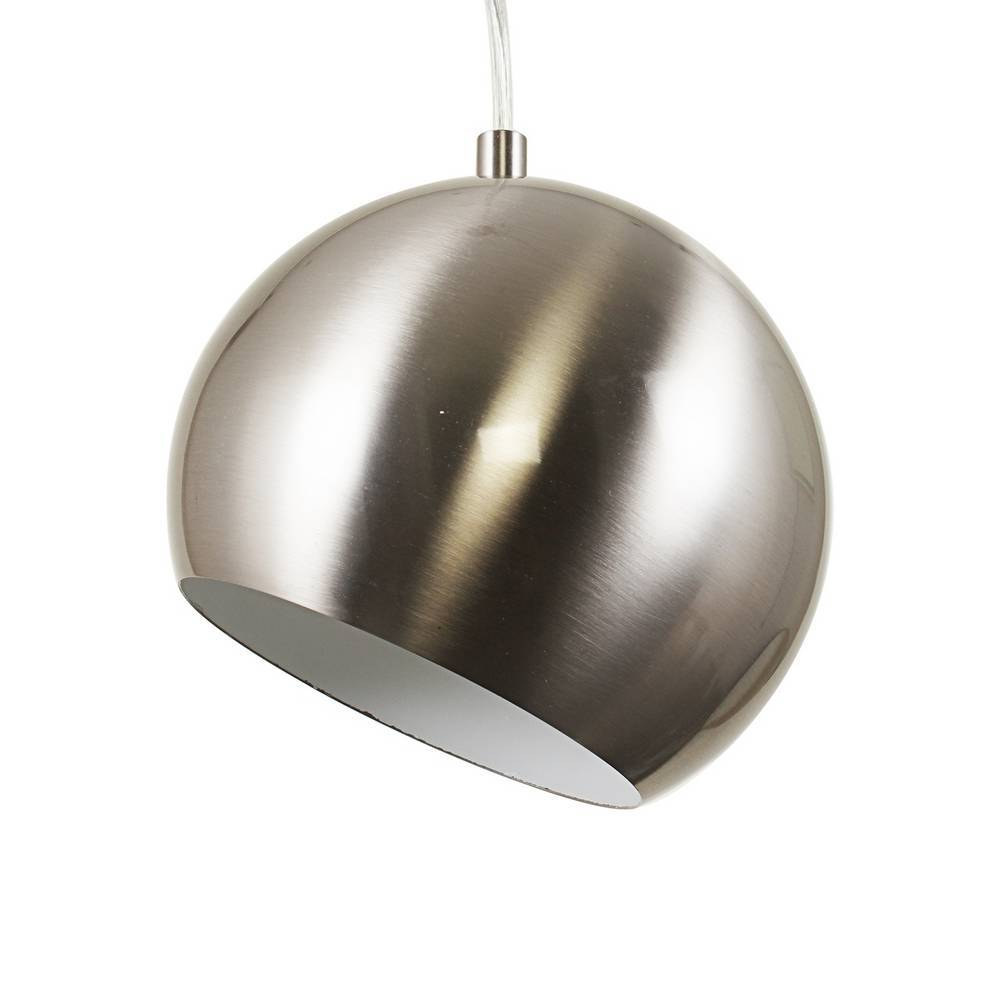 Modern Brushed Nickel Globe Mini Hanging Light