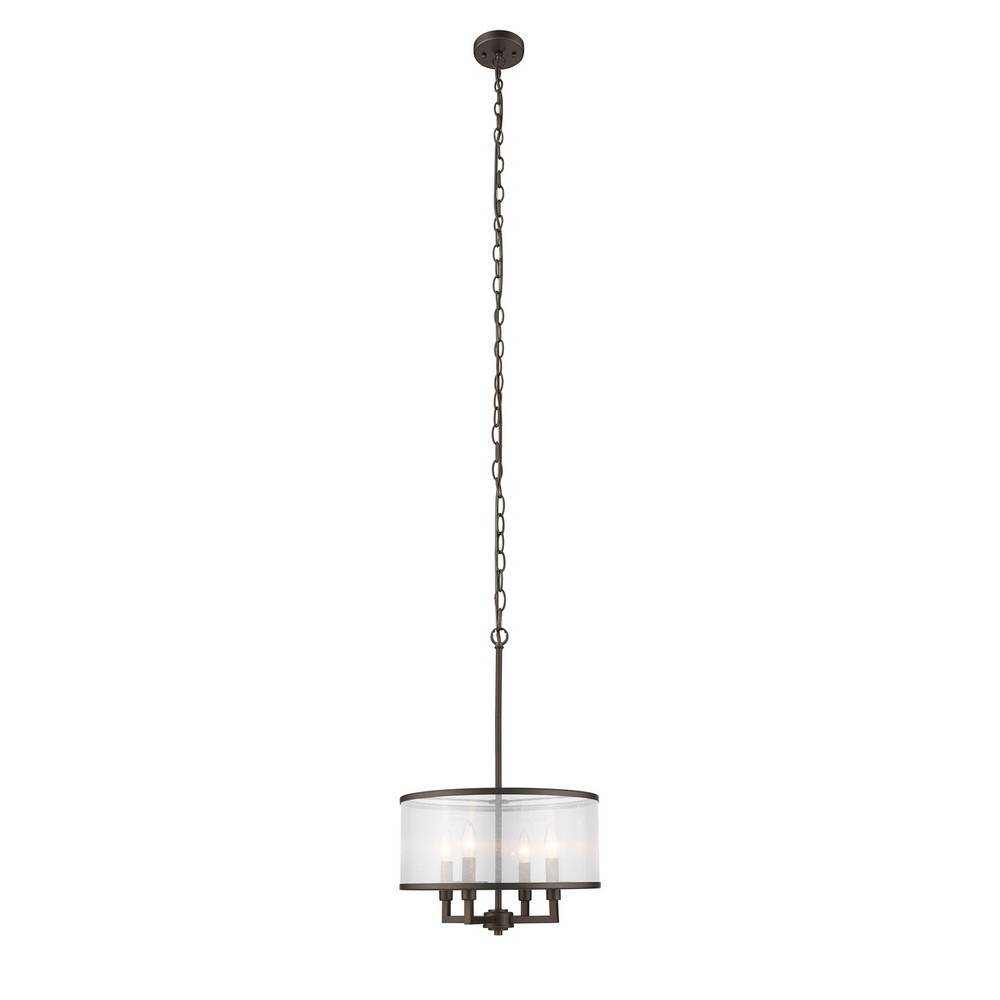 Modern Industrial Oil Rubbed Bronze Drum Hanging Light