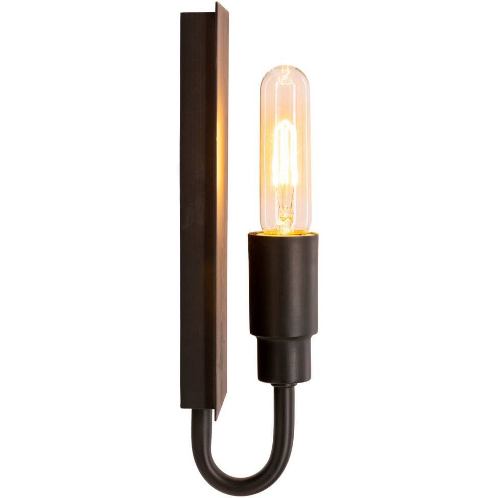 Contemporary Industrial Oil Rubbed Bronze Single Bulb Wall Sconce