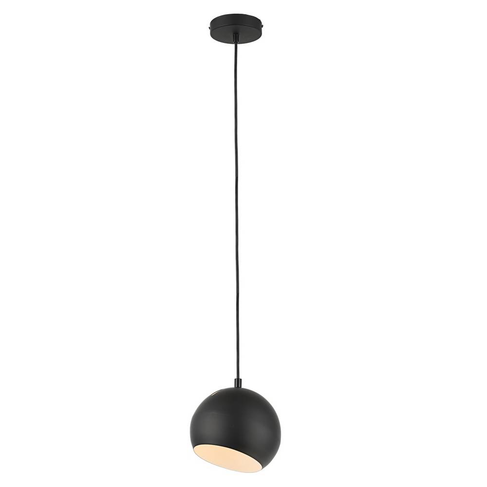 Modern Matte Black & White Globe Mini Pendant Lighting