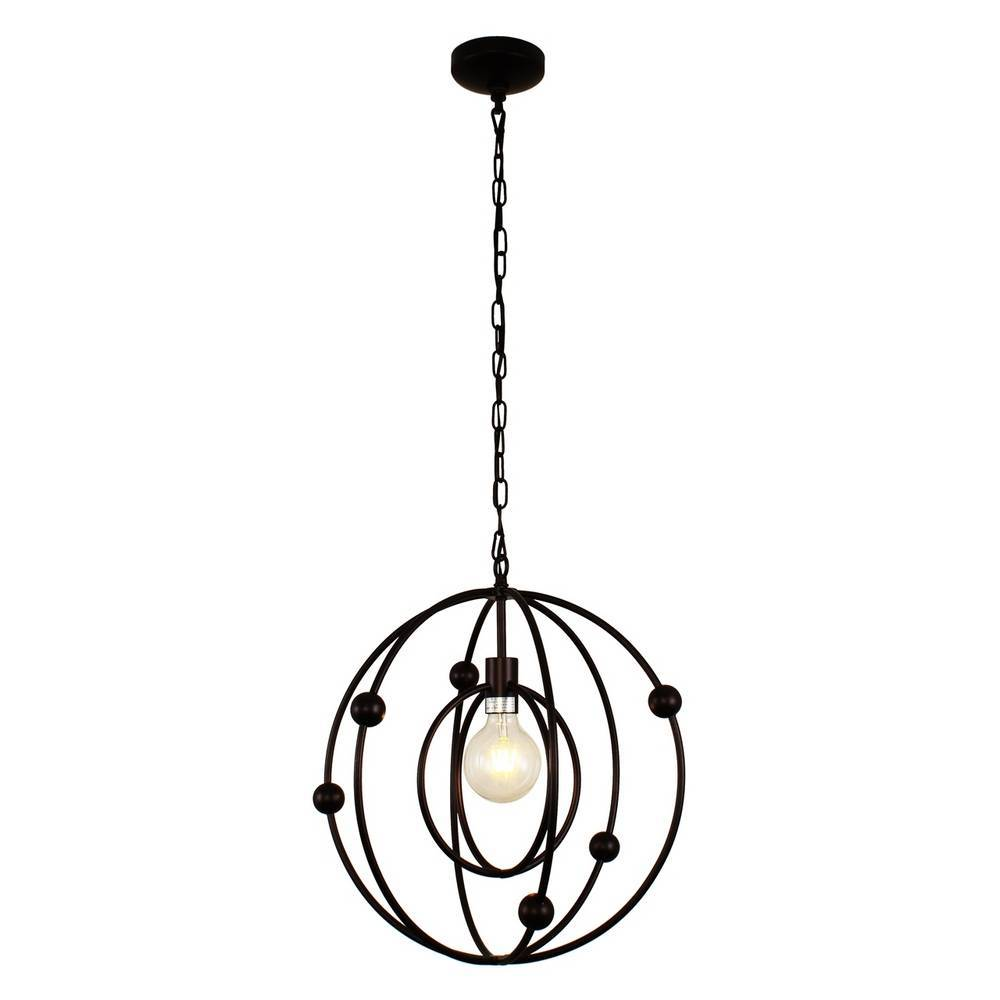 Modern Oil Rubbed Bronze Cage Globe Pendant Lighting