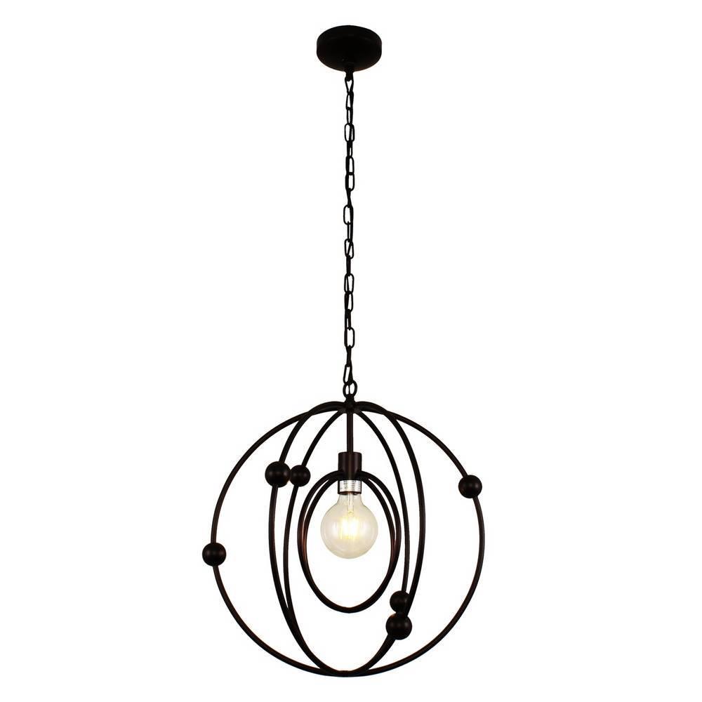 Contemporary Oil Rubbed Bronze Cage Globe Pendant Lighting
