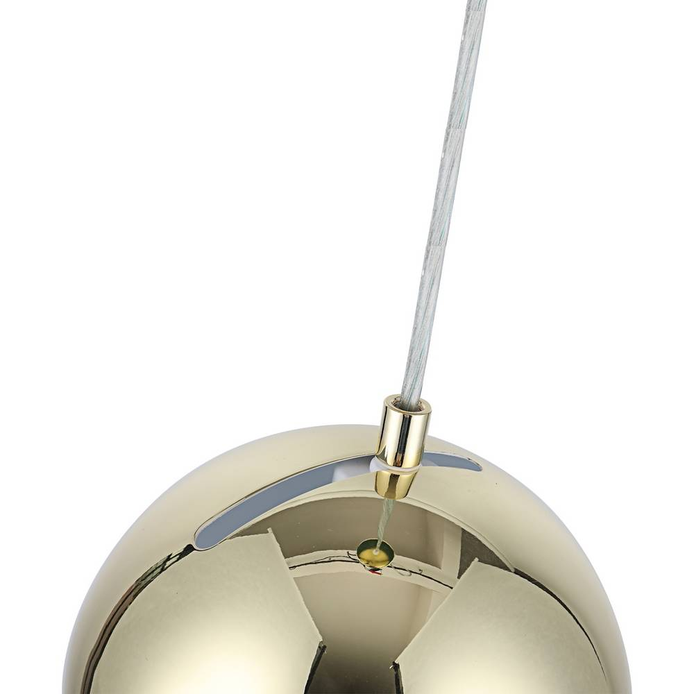 Contemporary Plated Gold Globe Small Pendant Lighting