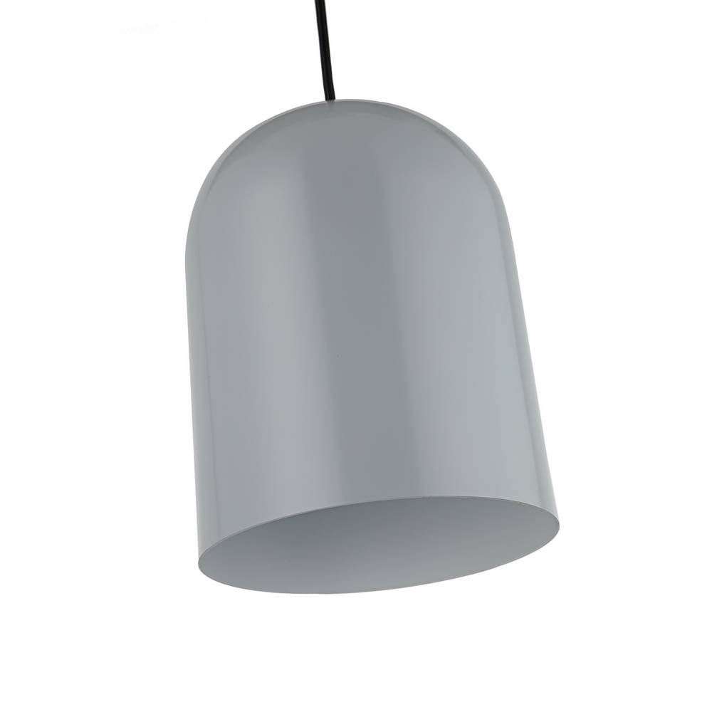 Contemporary White & Gray Cylinder Small Pendant Lighting