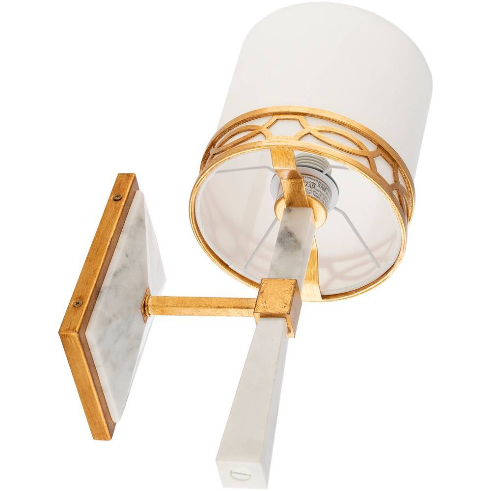 modern marble and gold wall light