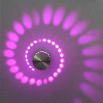 Pink / Recessed Modern Swirl LED Ceiling Light