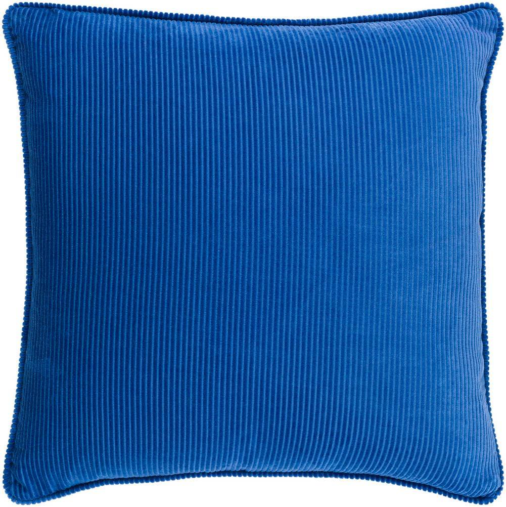 Dark Blue Velvet Throw Pillow with Piping
