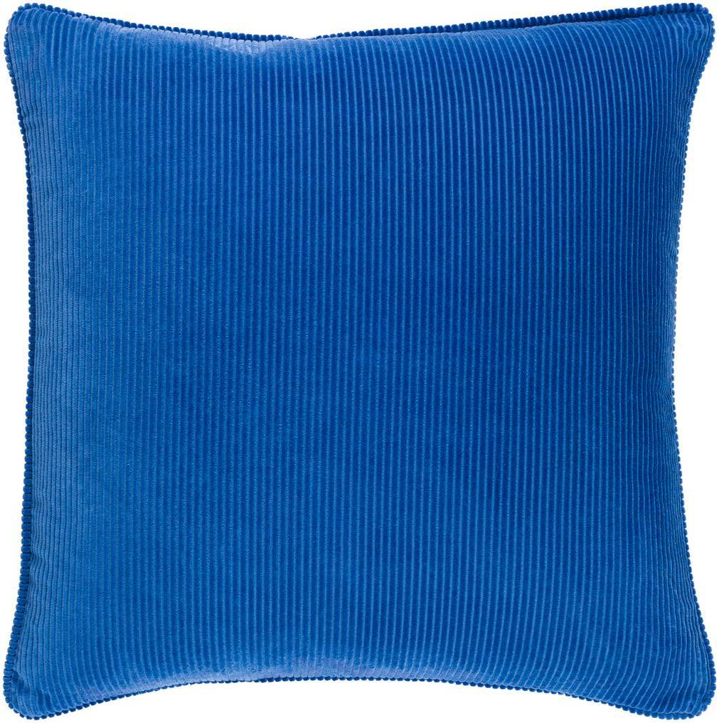 Deep Blue Velvet Throw Pillow with Piping