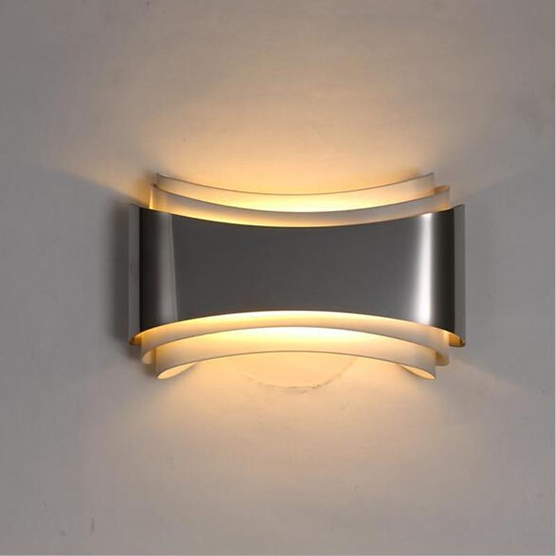 Warm White Modern Curved LED Wall Lamp