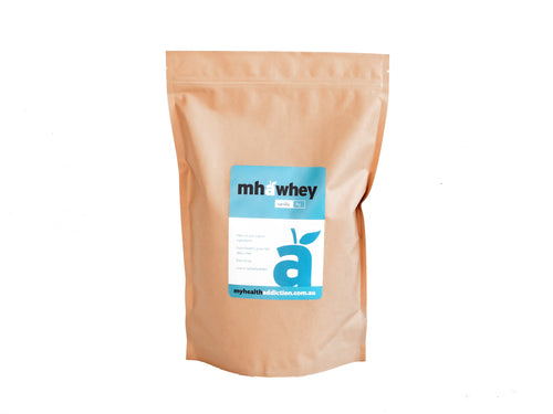 My Health Addiction WHEY PROTEIN POWDER- Organic Vanilla Bean