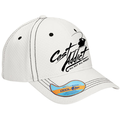 Cast Addict Performance Hat White - Dunleavyapparel