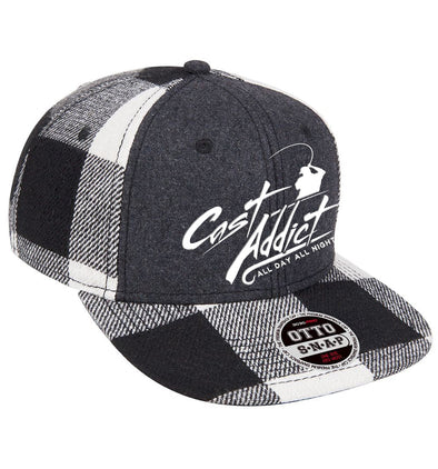 Cast Addict Wool Flannel Snapback Hat