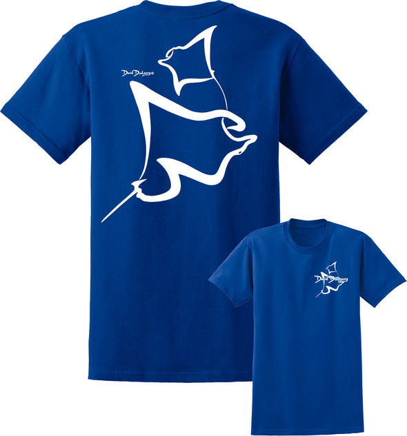 Men's Manta Rays Deco Short Sleeve Cotton T-Shirt