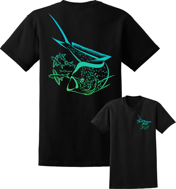 Men's Mahi Mahi Deco Short Sleeve Cotton T-Shirt - Dunleavyapparel