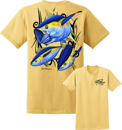 Men's Yellowfin Tuna Short Sleeve Cotton T-Shirt