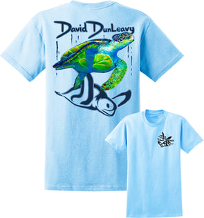 Men's Turtle Hybrid Short Sleeve Cotton T-Shirt - Dunleavyapparel