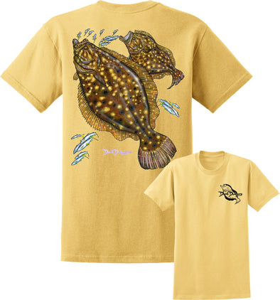 Men's Flounder Short Sleeve Cotton T-Shirt - Dunleavyapparel