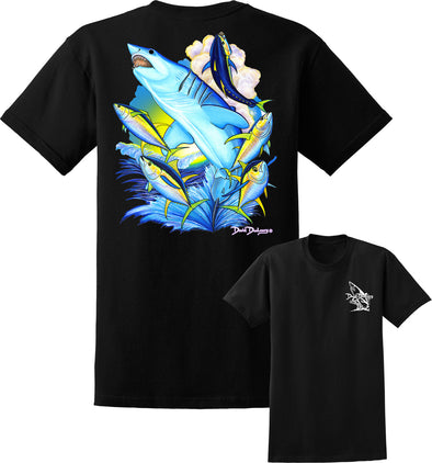 Men's Mako Shark & Tuna Short Sleeve Cotton T-Shirt