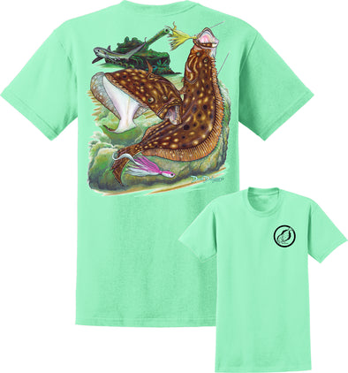 Men's Flounder Reef Short Sleeve Cotton T-Shirt - Dunleavyapparel
