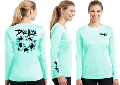 Women's Performance Dive Life Turtles Long Sleeve