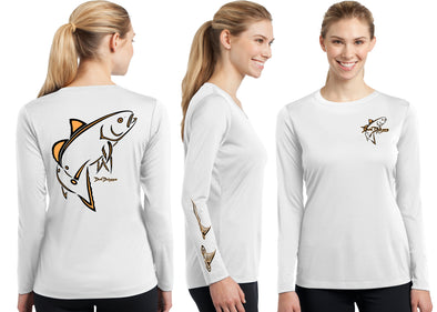 Women's Performance Classic Redfish Deco Long Sleeve - Dunleavy Apparel