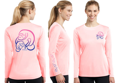 Women's Performance Manatee Deco Long Sleeve - Dunleavy Apparel