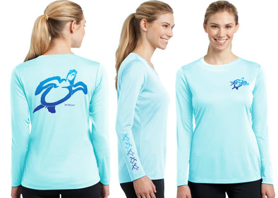 Women's Performance Turtle Deco Long Sleeve - Dunleavy Apparel