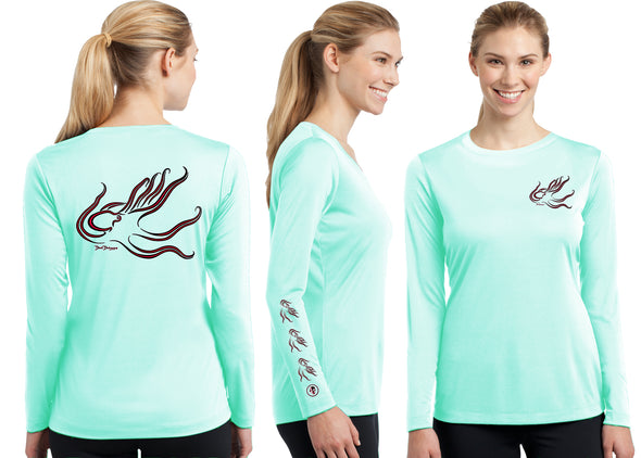 Women's Performance Octopus Deco Long Sleeve - Dunleavy Apparel