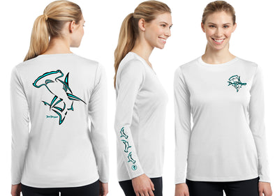 Women's Performance Hammerhead Deco Long Sleeve - Dunleavyapparel