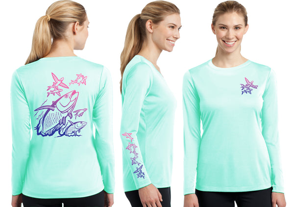 Women's Performance Tuna & Flying Fish Deco Long Sleeve