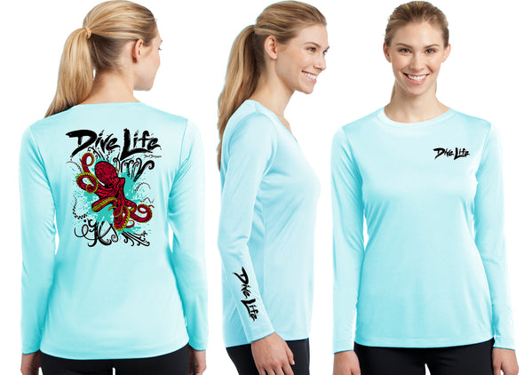 Women's Performance Dive Life Octopus Long Sleeve