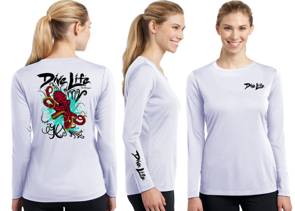 Women's Performance Dive Life Octopus Long Sleeve - Dunleavyapparel