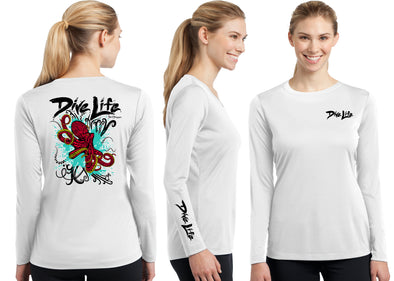 Women's Performance Dive Life Octopus Long Sleeve - Dunleavy Apparel