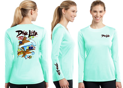 Women's Performance Dive Life Hammer Time Long Sleeve - Dunleavyapparel