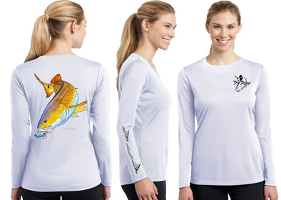 Women's Performance Redfish Long Sleeve - Dunleavy Apparel