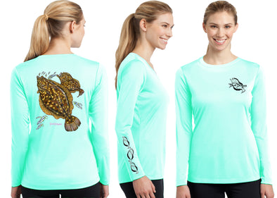 Women's Performance Flounder Long Sleeve - Dunleavyapparel