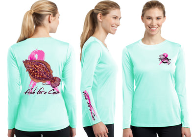 Women's Performance Fish For A Cure - Dunleavyapparel