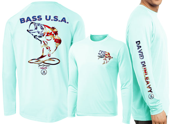Men's Performance Bass USA Long Sleeve - Dunleavyapparel