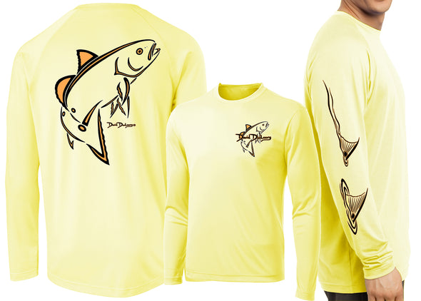 Men's Performance Classic Redfish Deco Long Sleeve - Dunleavyapparel