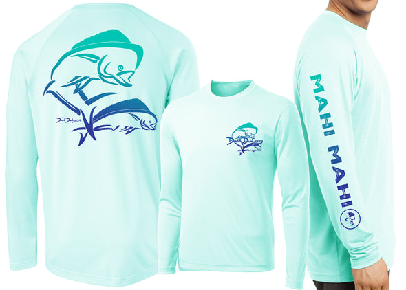 Men's Performance Bull Dolphin Deco Long Sleeve - Dunleavy Apparel