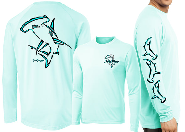 Men's Performance Hammerhead Shark Deco Long Sleeve