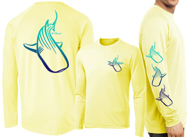 Men's Performance Whale Shark Deco Long Sleeve